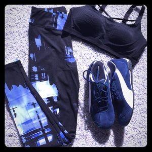 Pants - NWT Black & blue leggings